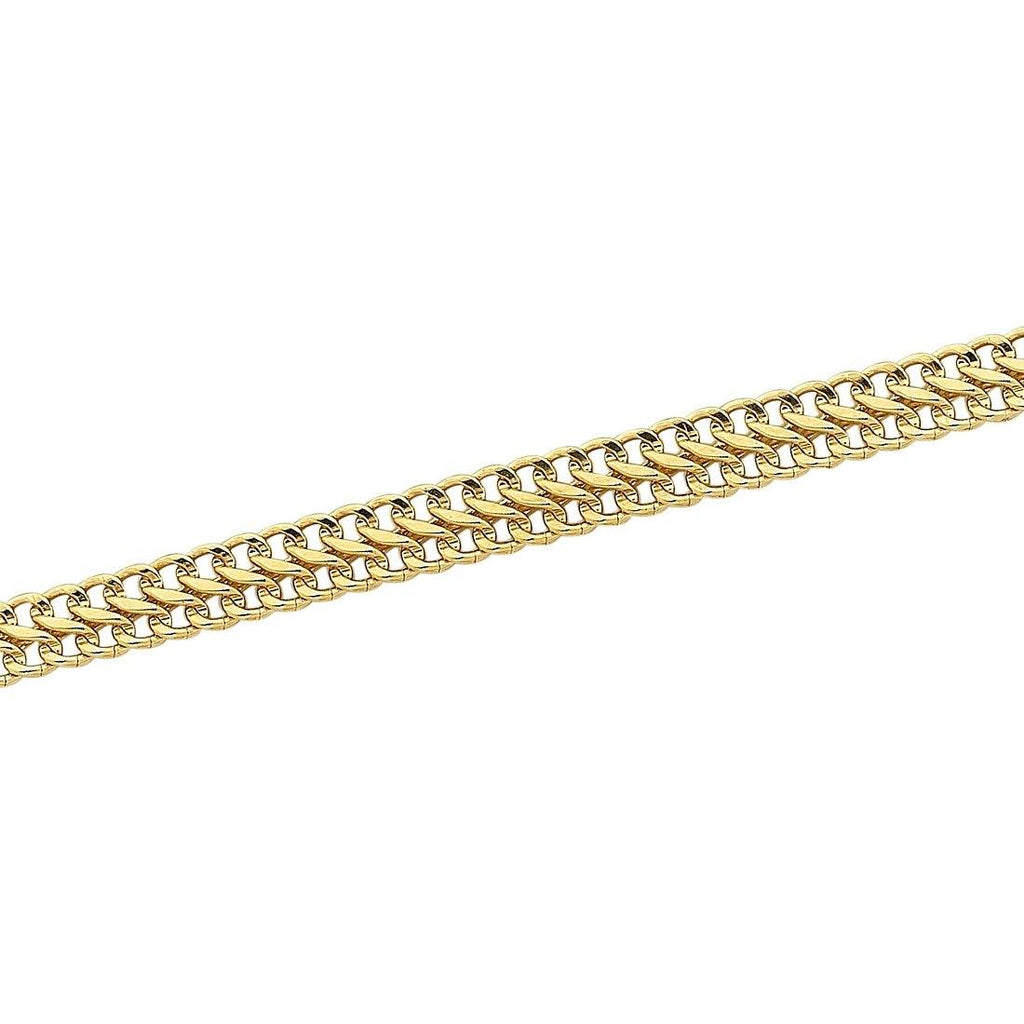 9ct Yellow Gold Silver Infused Fancy Infinity Link Bracelet
