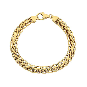 9ct Yellow Gold Silver Infused Swirl Link Fancy Bracelet