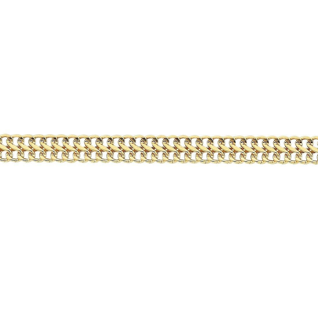 9ct Yellow Gold Silver Infused Fancy Infinity Link Necklace