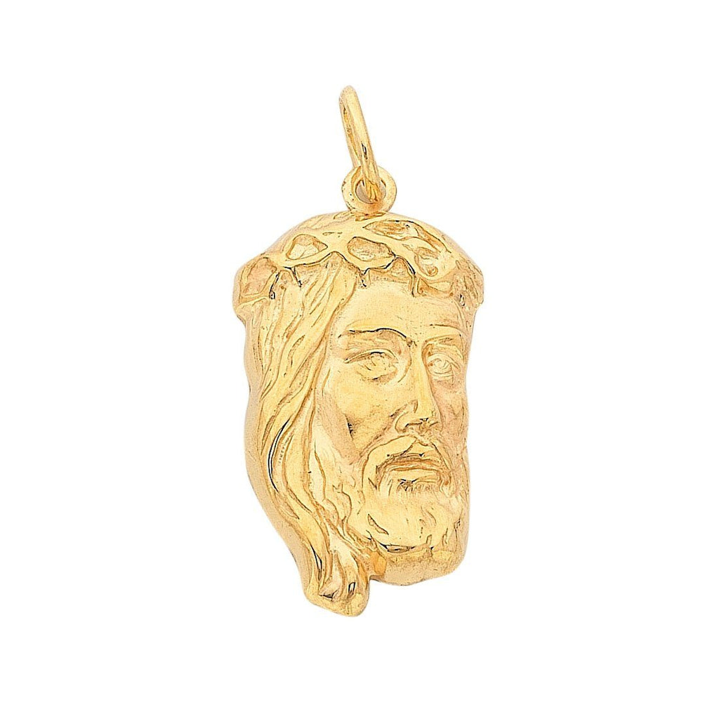 9ct Yellow Gold Silver Infused Jesus Charm Necklaces Bevilles