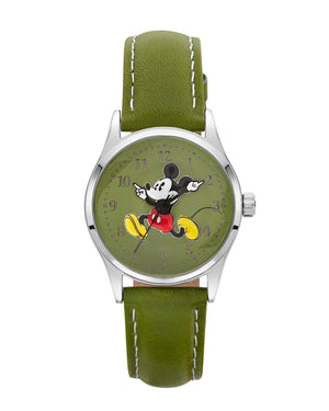 Disney Running Mickey Mouse Green Watch