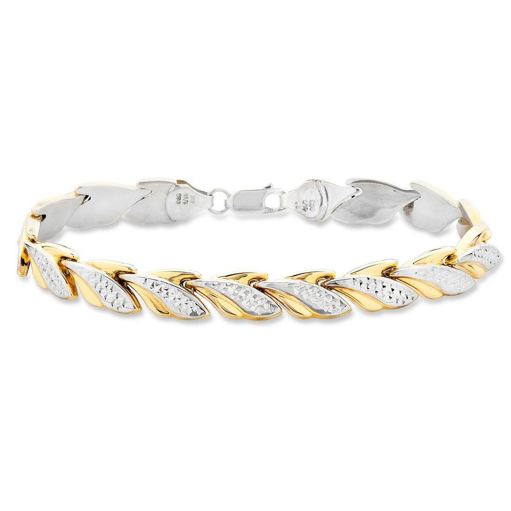9ct Two Tone Silver Infused Bracelet