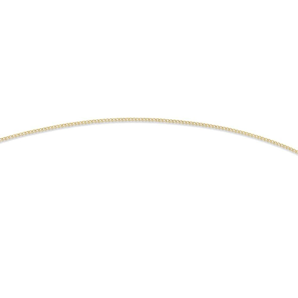 9ct Yellow Gold Silver Infused 50cm Curb Necklace