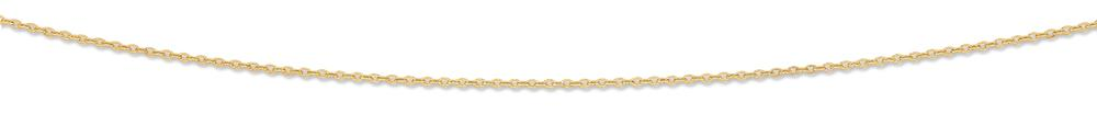 9ct Yellow Gold Silver Infused Cable Chain