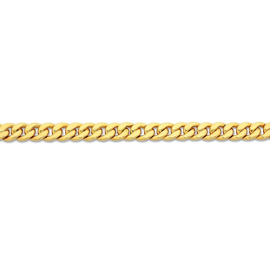 9ct Yellow Gold Silver Infsued Necklace