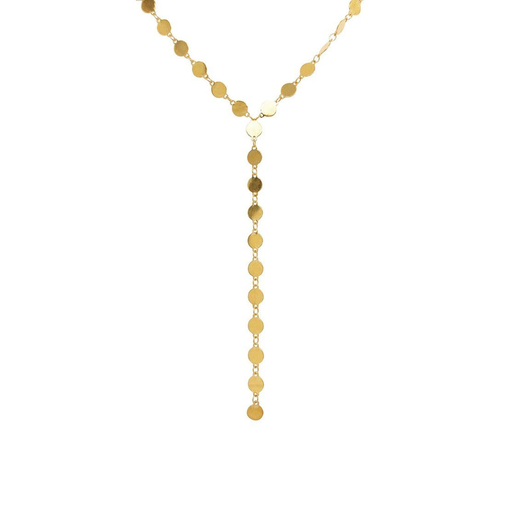 9ct Yellow Gold Silver Infused Fancy Oval Drop Necklace