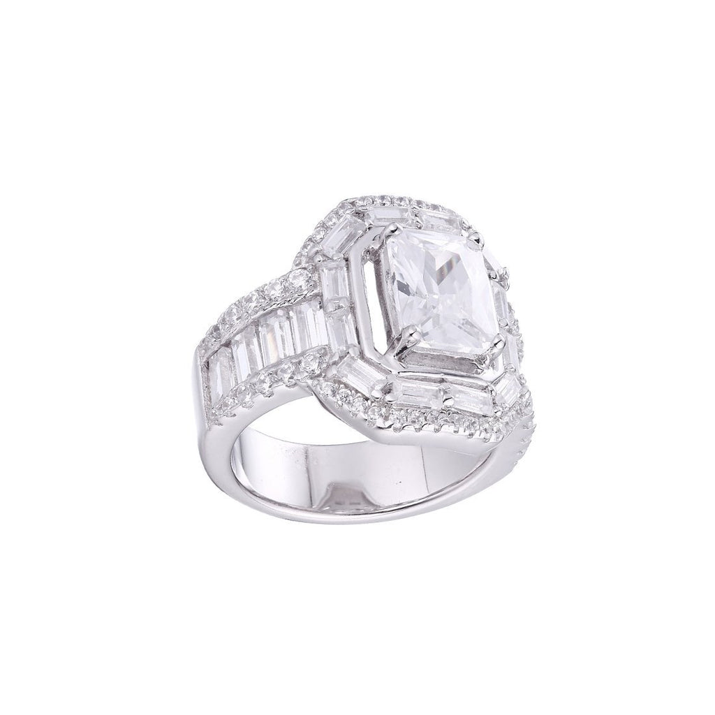 Gina Liano Bella Emerald Cut Cubic Zirconia Ring Rings Bevilles