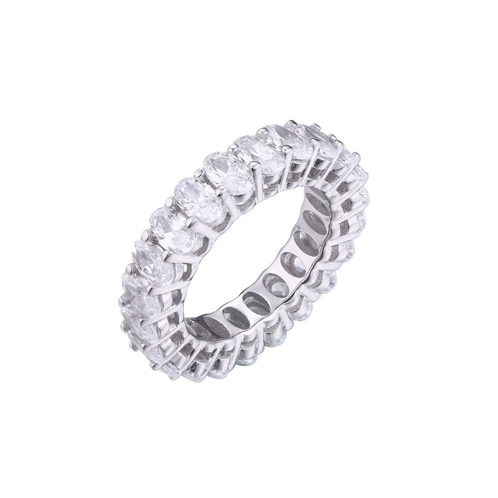 Gina Liano Forever Oval Cubic Zirconia Eternity Band Rings Bevilles