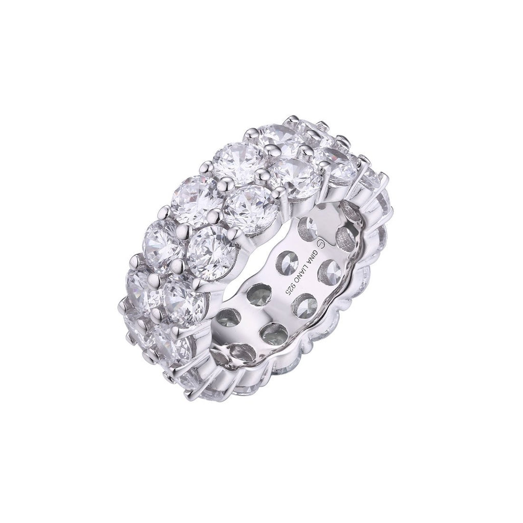 Gina Liano Forever Double Row Eternity Ring Rings Bevilles