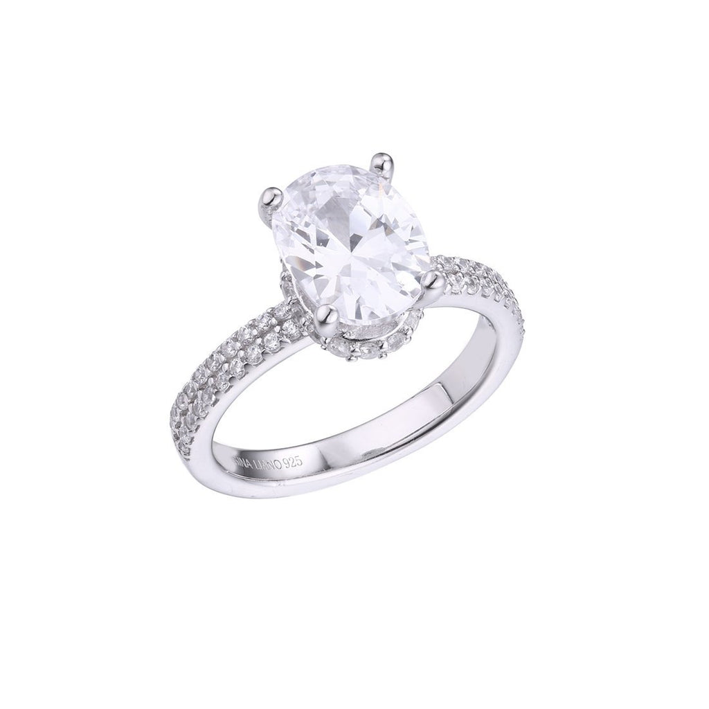 Gina Liano Lily Oval Cubic Zirconia Ring Rings Bevilles