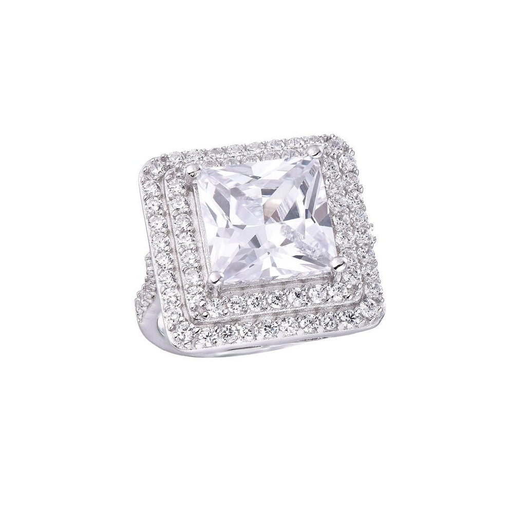 Gina Liano Jolie Square Cubic Zirconia Ring Rings Bevilles