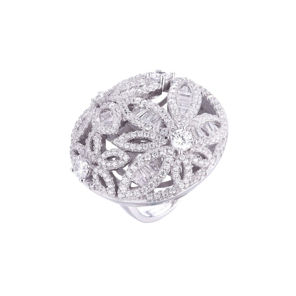 Gina Liano Fiore Cubic Zirconia Floral Ring Rings Bevilles