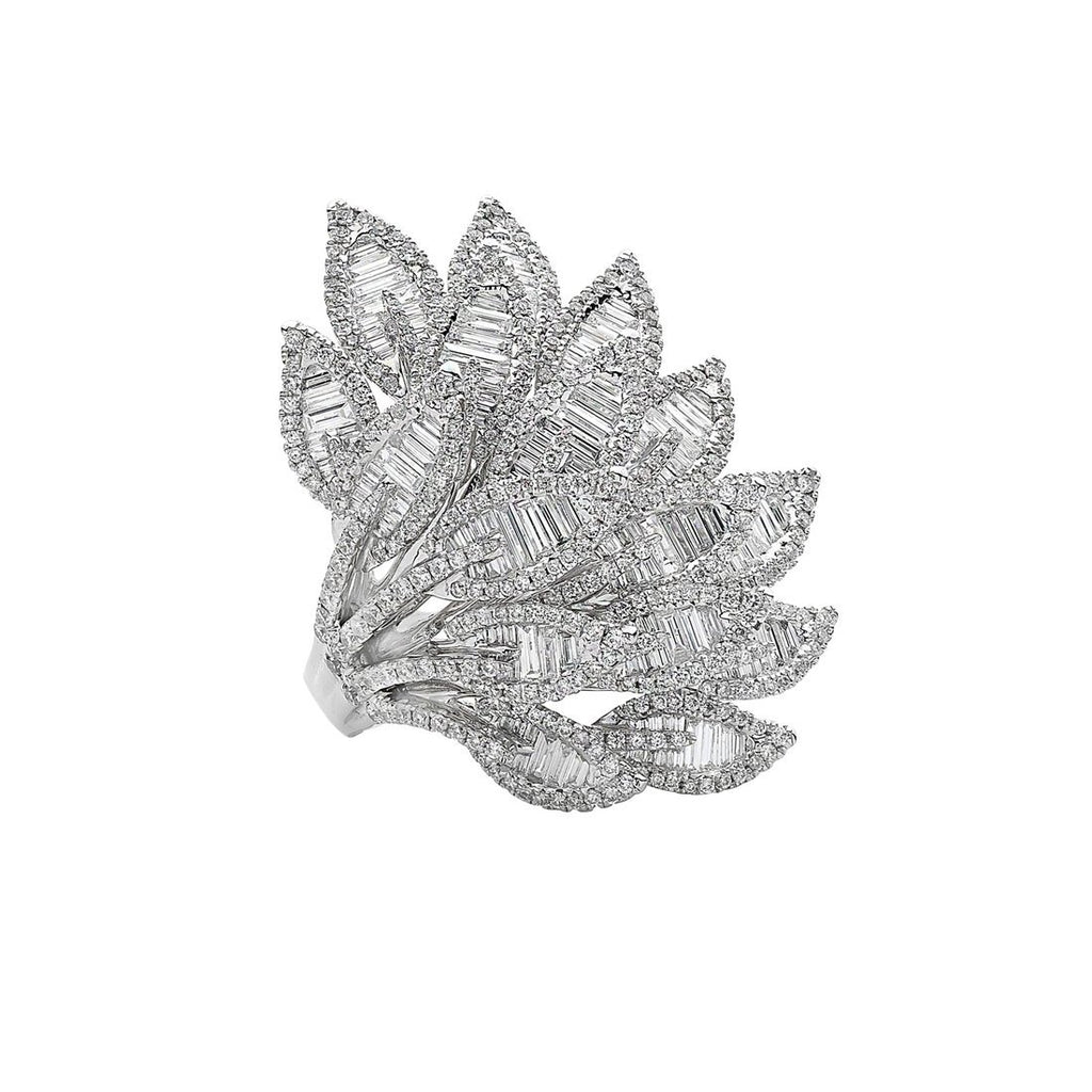 Gina Liano Autumn Leaf Cubic Zirconia Ring Rings Bevilles