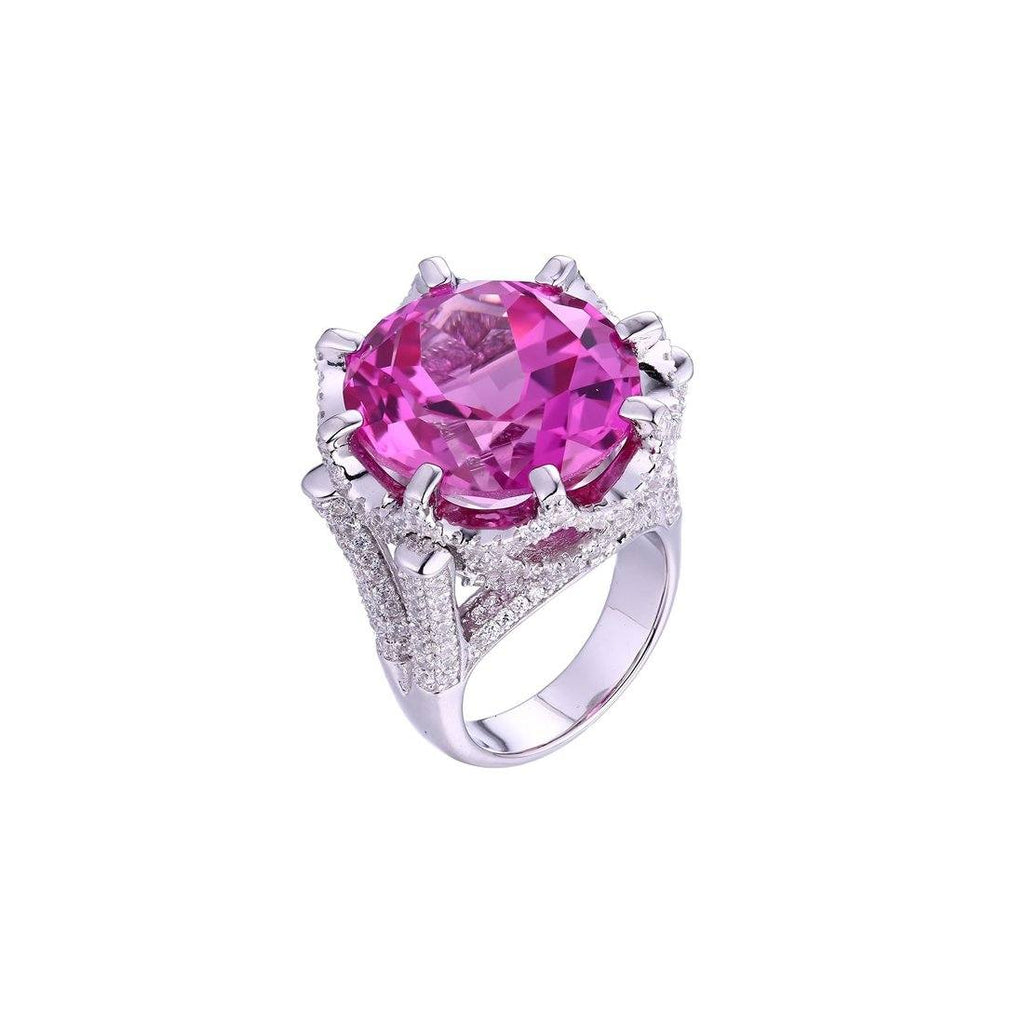 Gina Liano Blush Pink Cubic Zirconia Ring
