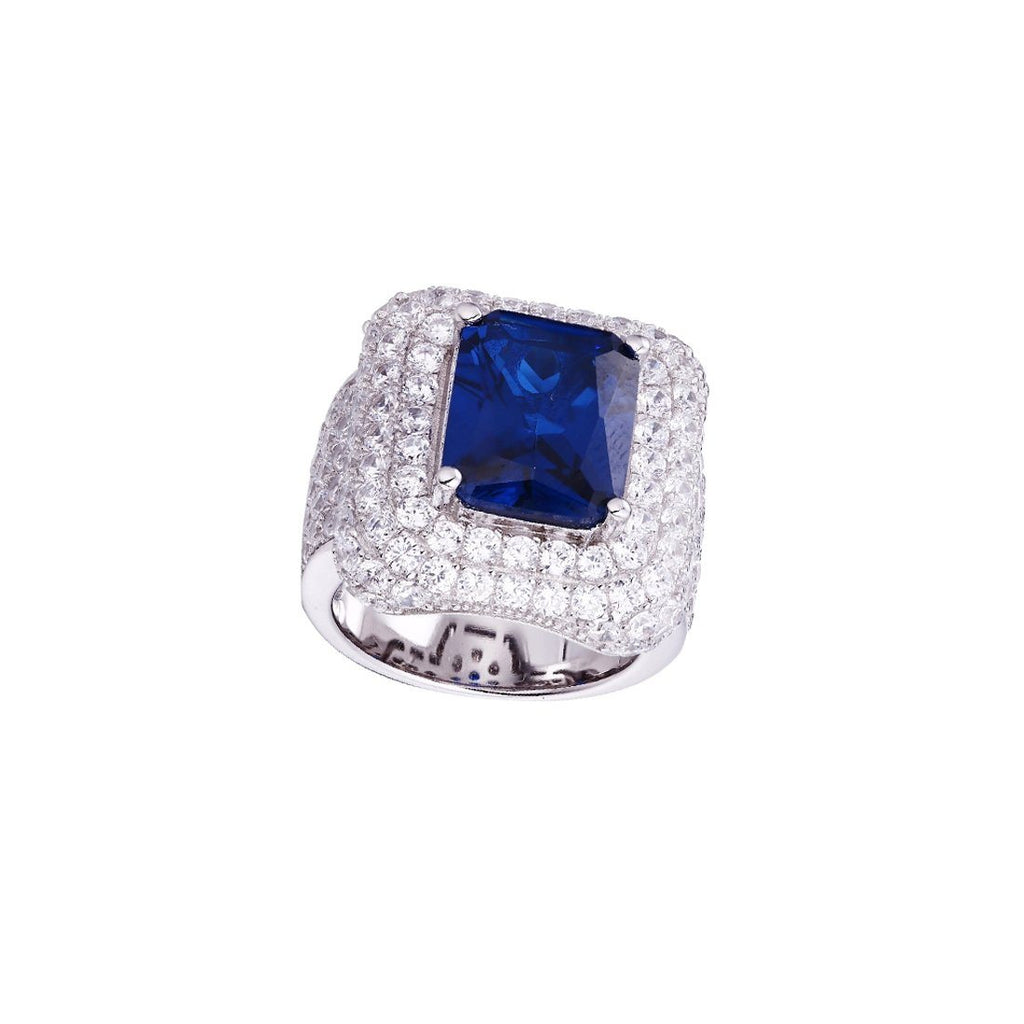 Gina Liano Royal Blue Cubic Zirconia Ring Rings Bevilles