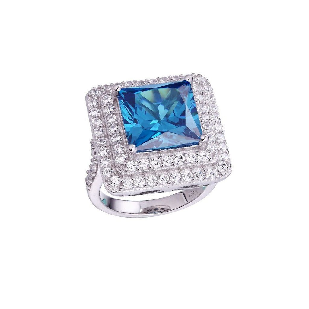 Gina Liano Tranquility Blue Cubic Zirconia Ring