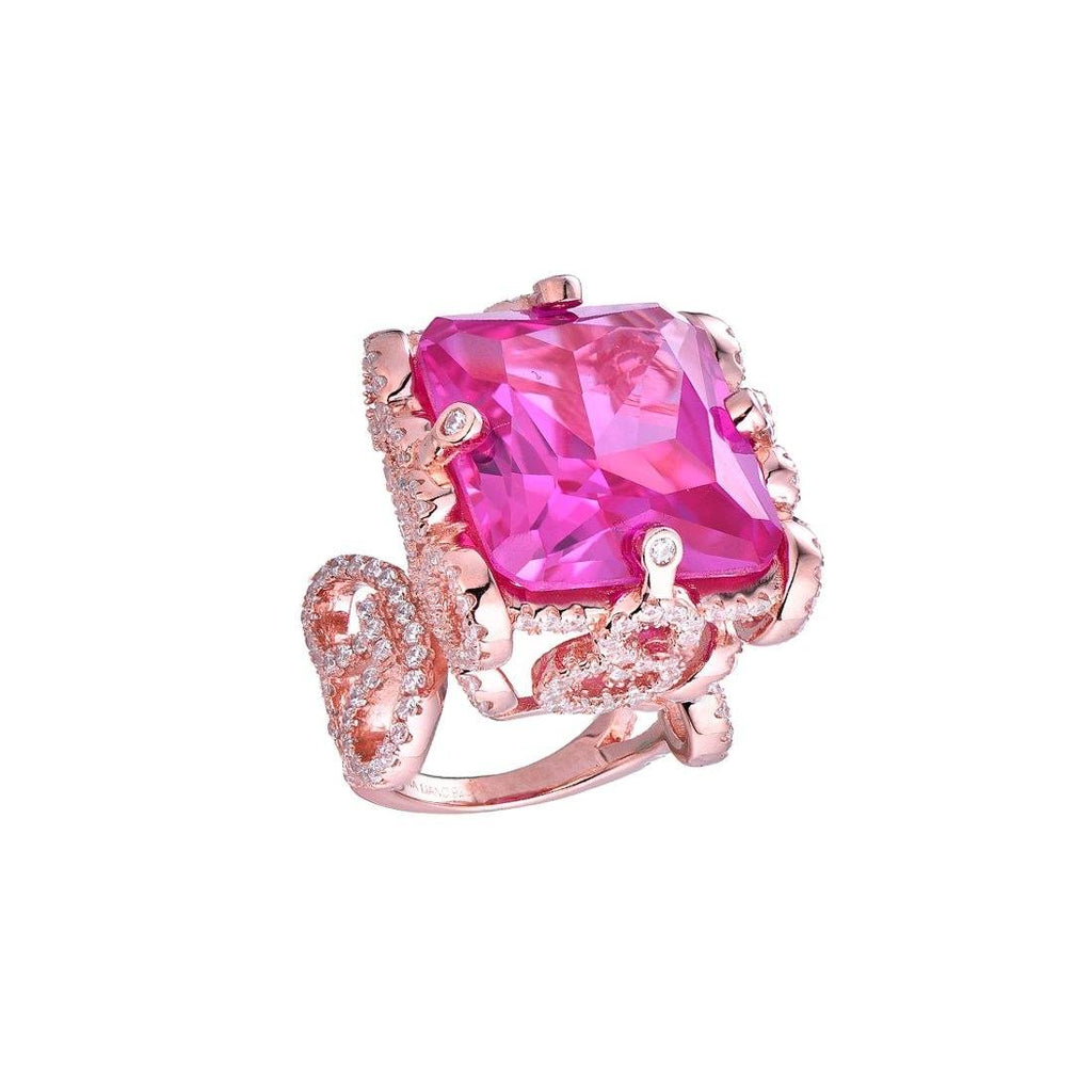 Gina Liano Buckingham Pink Cubic Zirconia Ring Rings Bevilles