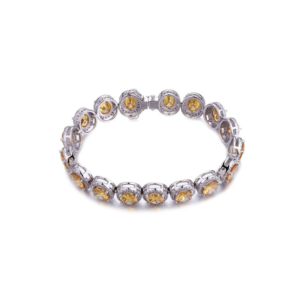 Gina Liano Amour Yellow Cubic Zirconia Tennis Bracelet