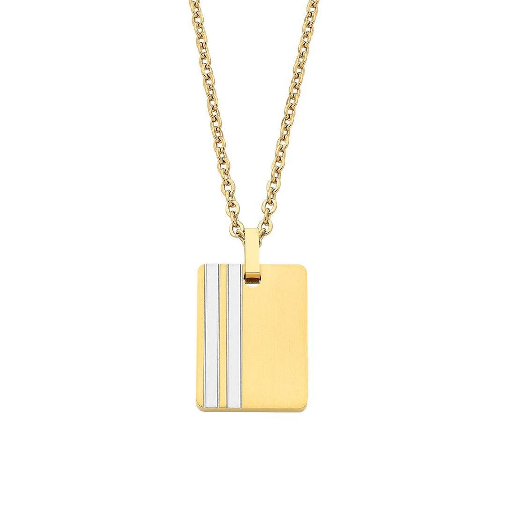 Stainless Steel Belcher Pendant Necklace