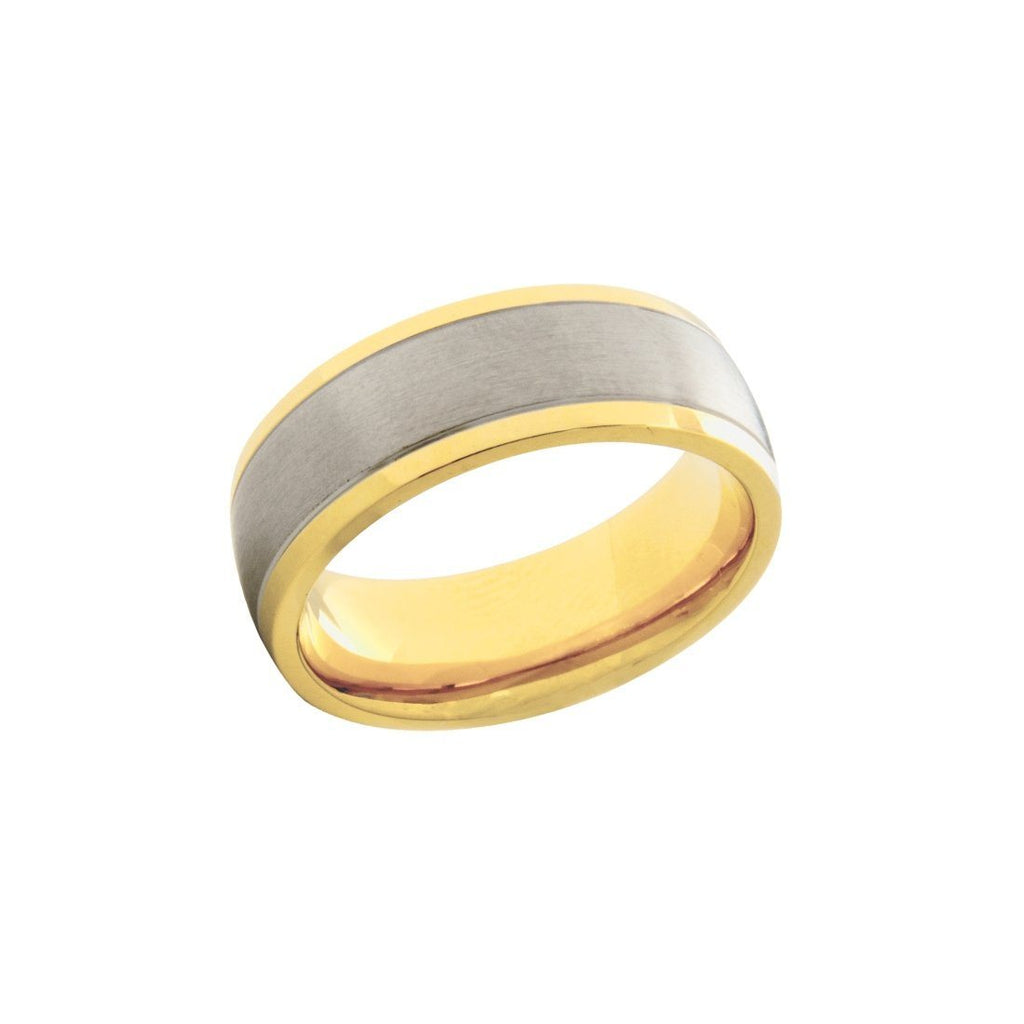 Stainless Steel Two Tone Mens Ring