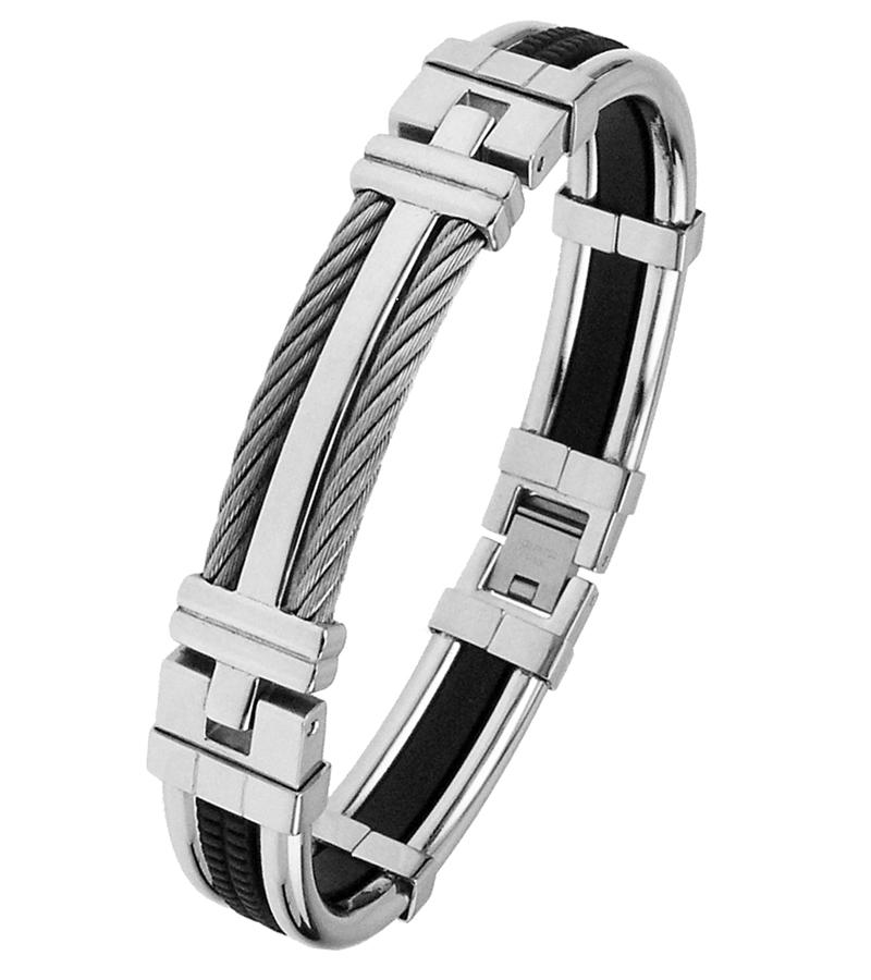 Stainless Steel Mens Bangle Bracelets Bevilles