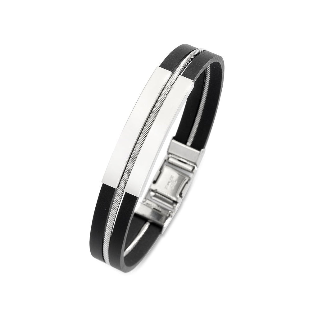 Stainless Steel Bangle Bracelets Bevilles