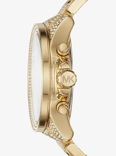 Michael Kors Wren Crystal & Gold Watch MK6355