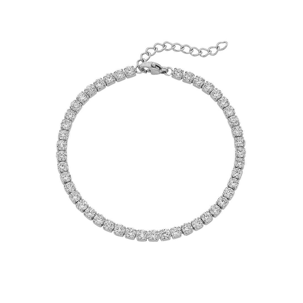 Stainless Steel Crystal Tennis Bracelet