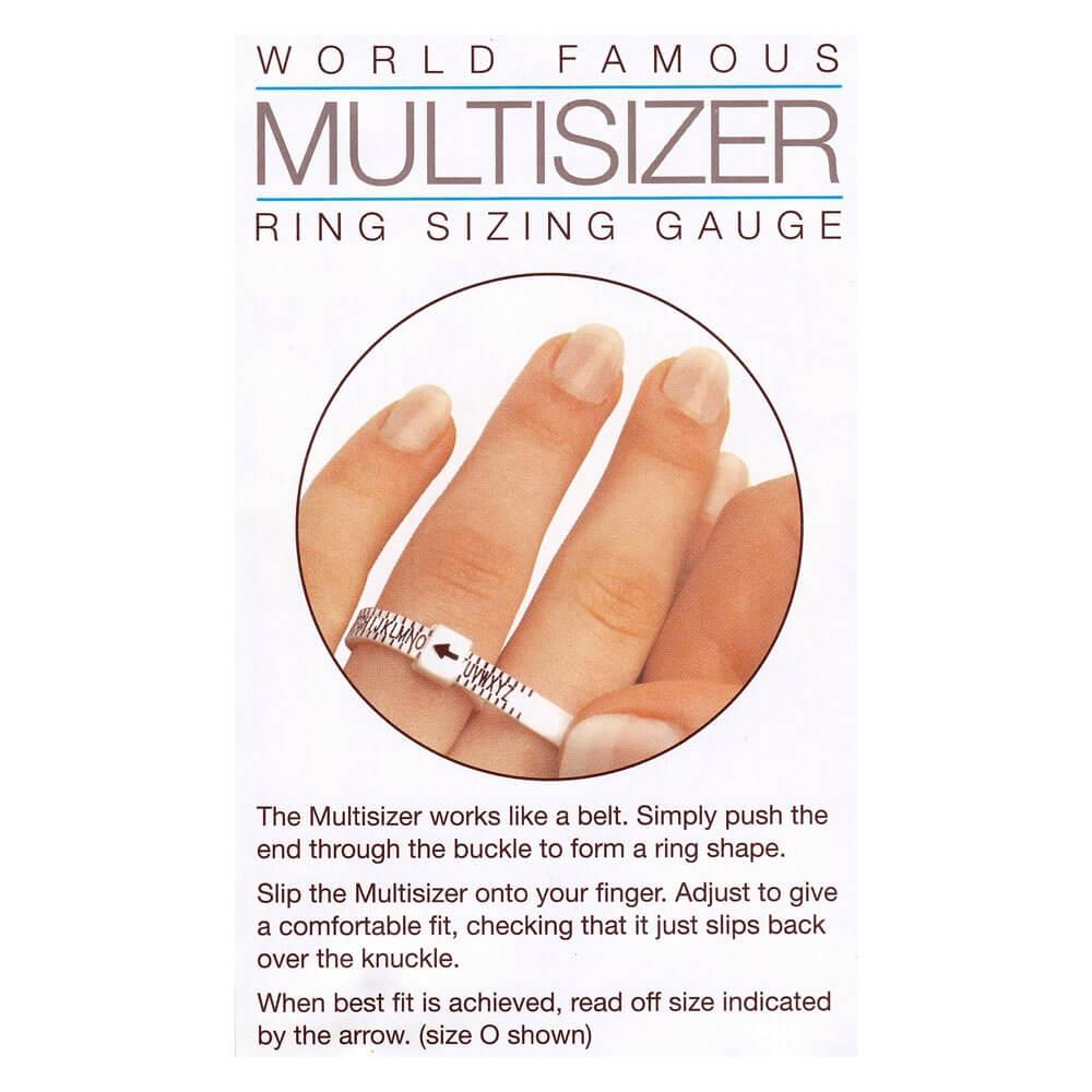 Multisizer Ring Gauge A-Z (Australian & UK Size) Rings Bevilles