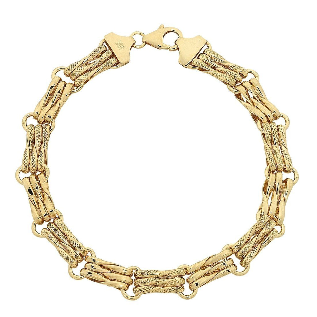 9ct Yellow Gold Gate Link Bracelet