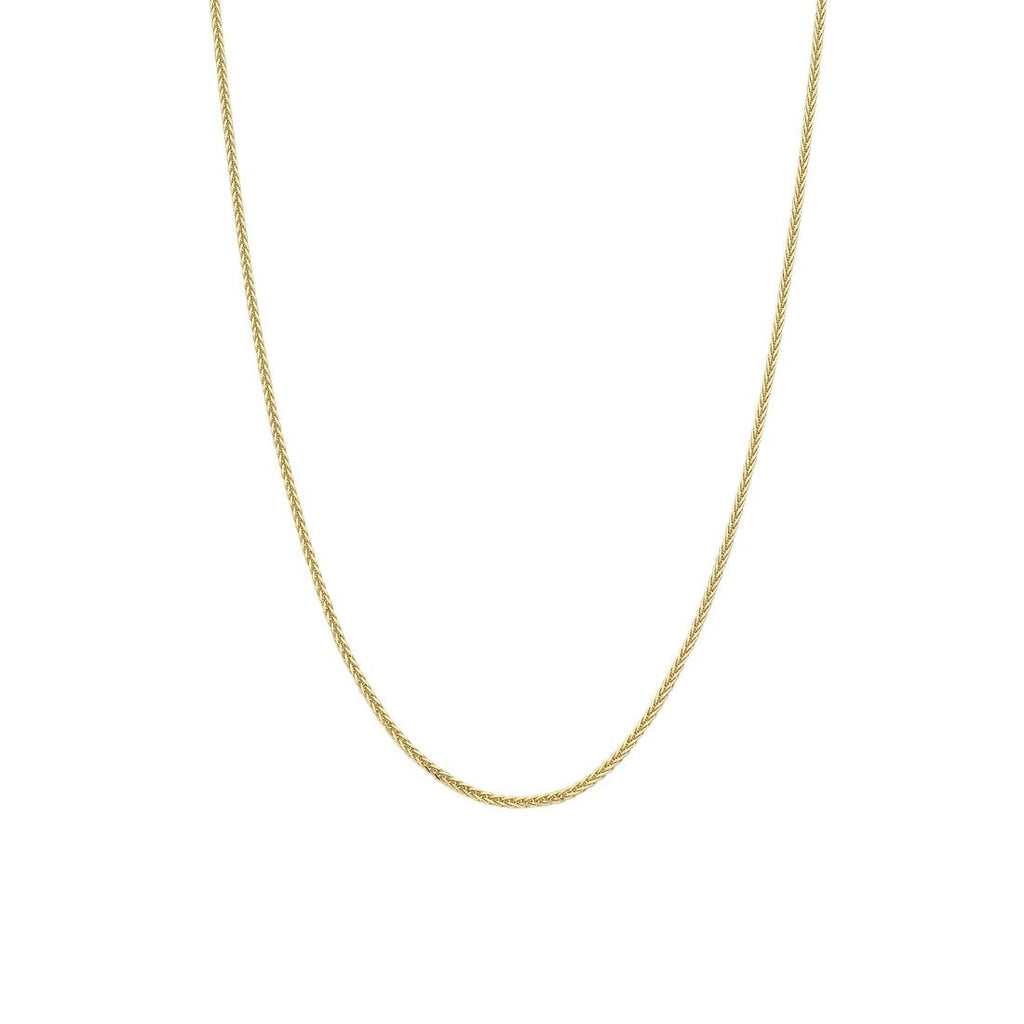 9ct Yellow Gold Diamond Cut Wheat Necklace 50cm Necklaces Bevilles
