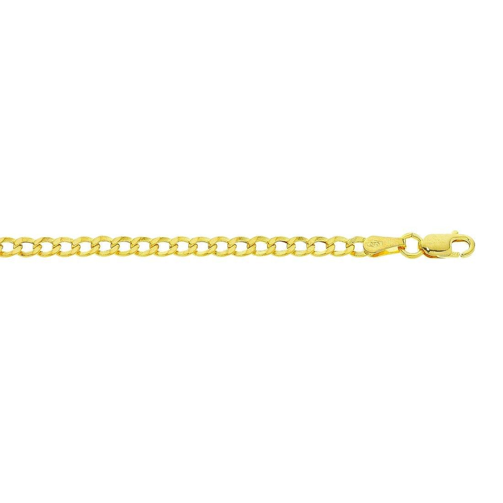 9ct Yellow Gold Curb Link Necklace Necklaces Bevilles