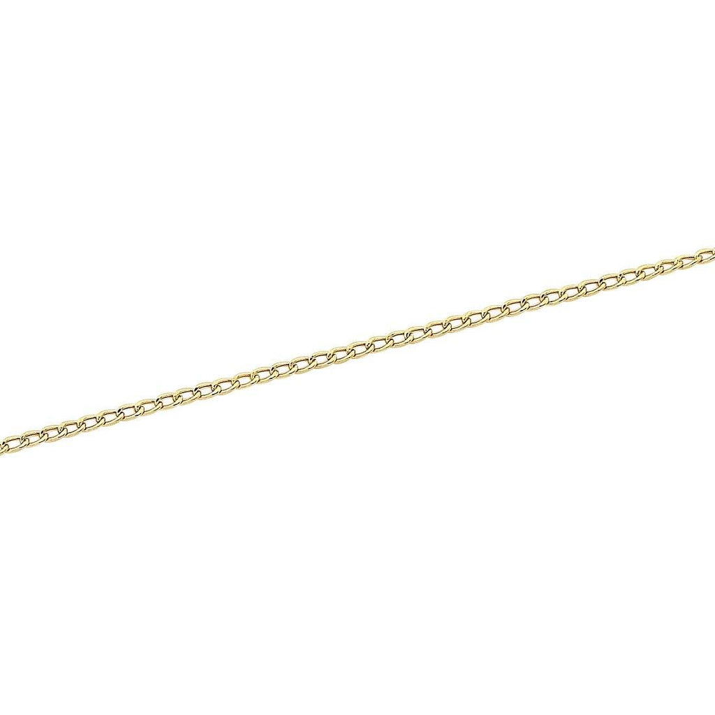 9ct Yellow Gold 50cm Curb Chain Necklace