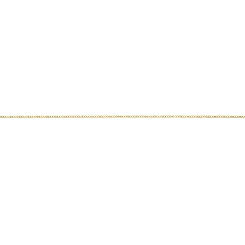 9ct Yellow Gold Curb Necklace 45cm