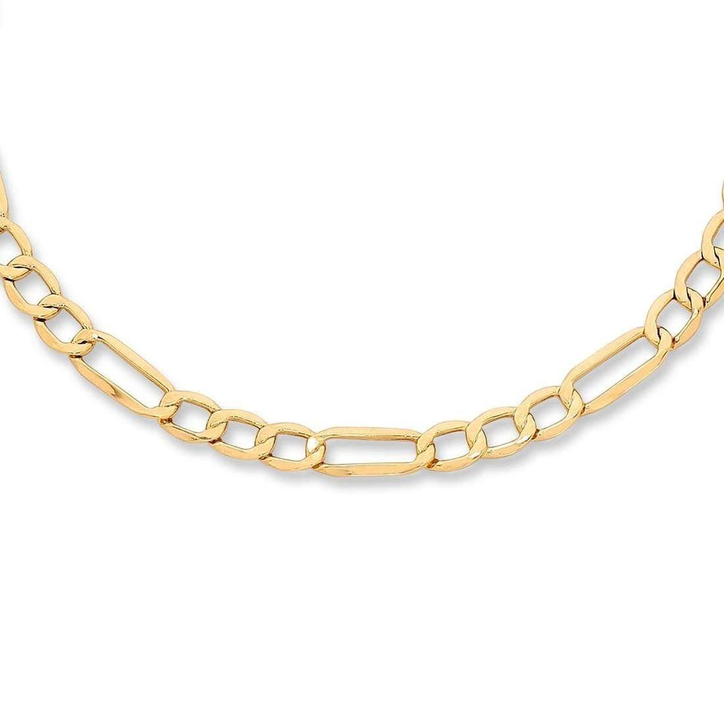 9ct Yellow Gold 1/3 Figaro Necklace 45cm Necklaces Bevilles
