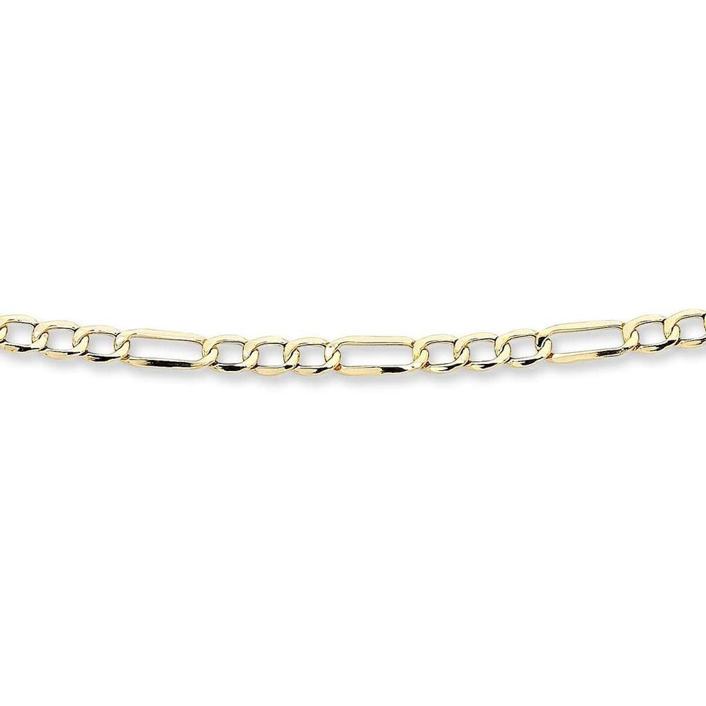 9ct Yellow Gold 1/3 Figaro Necklace