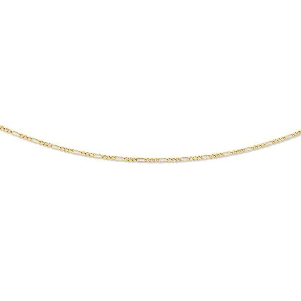 9ct Yellow Gold 45cm Figaro Necklace Necklaces Bevilles