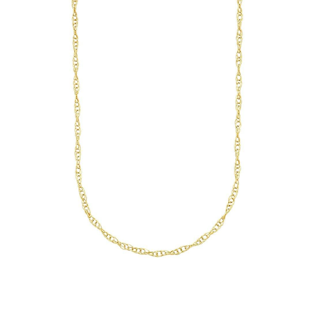 9ct Yellow Gold Singapore Necklace 50cm