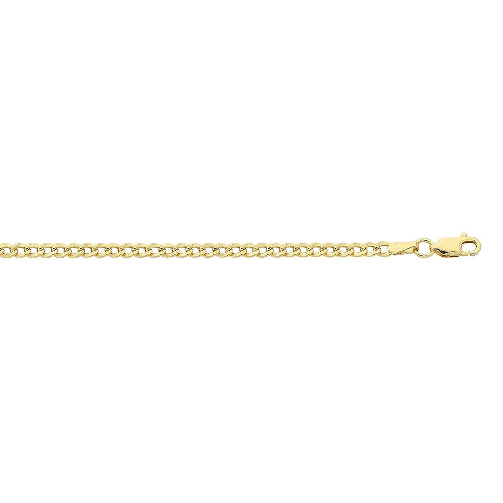 9ct Yellow Gold Curb 60cm Necklace Necklaces Bevilles