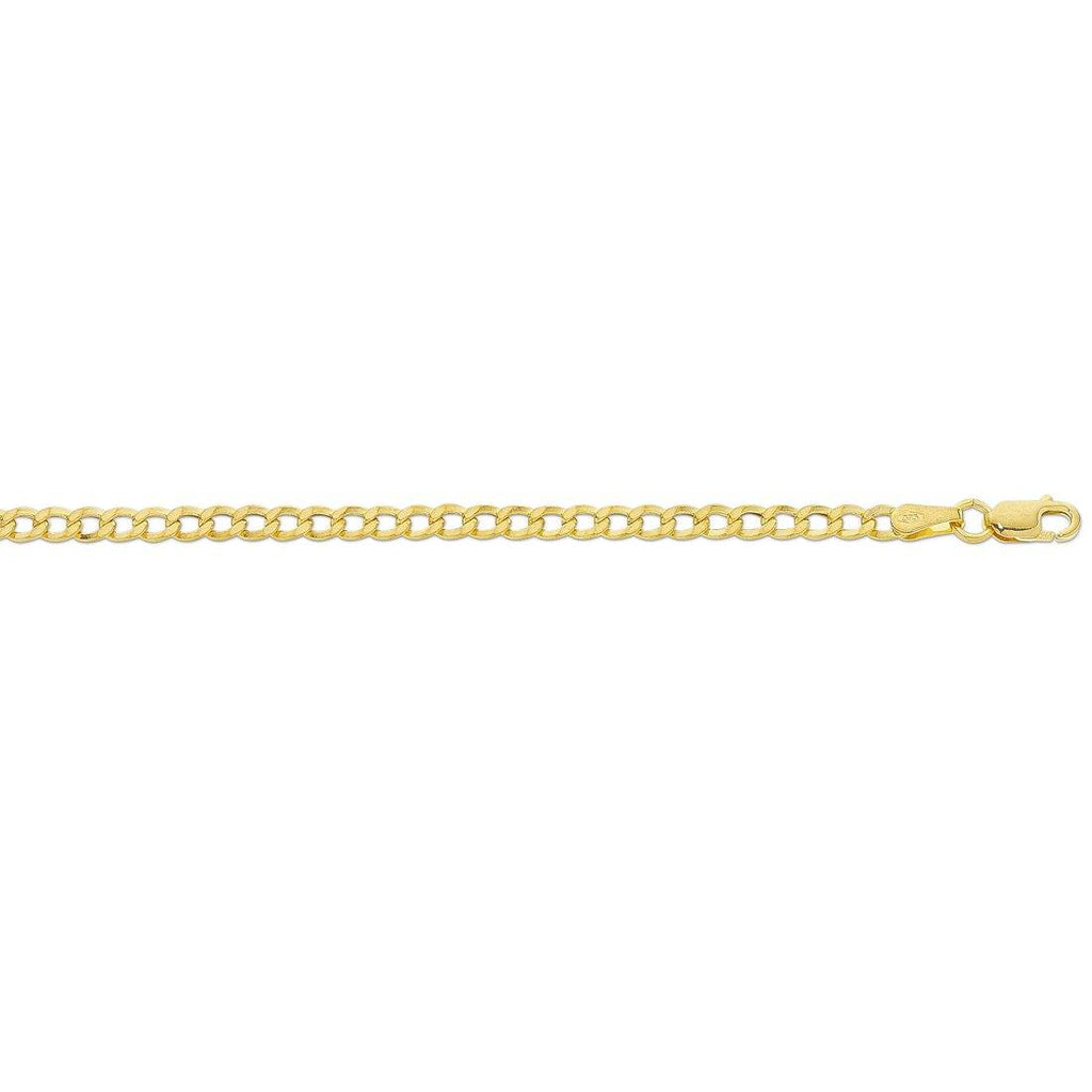 9ct Yellow Gold Curb Chain Necklace Necklaces Bevilles