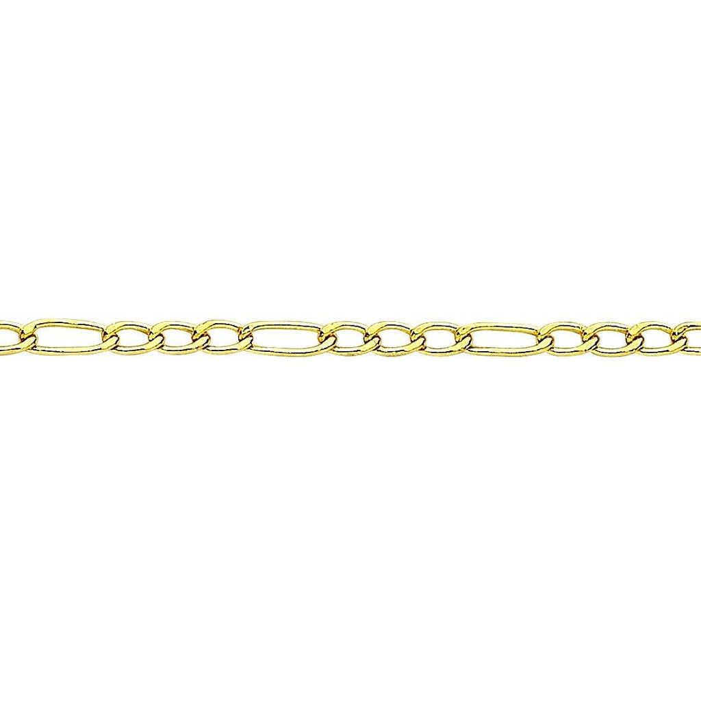 9ct Yellow Gold Figaro Necklace 45cm