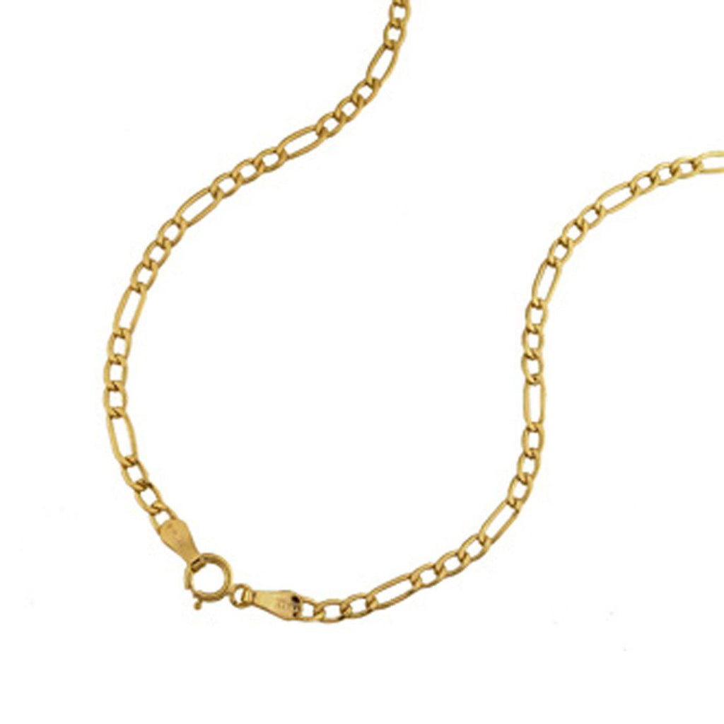 9ct Yellow Gold Figaro Necklace 55cm Necklaces Bevilles