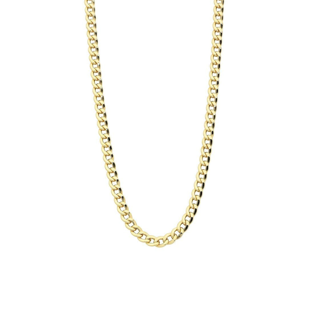 9ct Yellow Gold 50cm Open Curb Necklace Necklaces Bevilles
