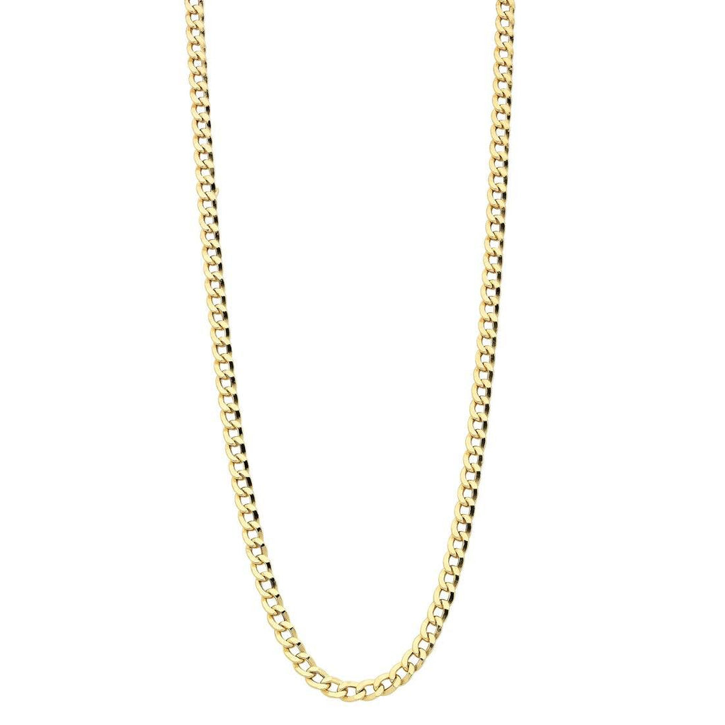 9ct Yellow Gold Hollow Curb Necklace Necklaces Bevilles