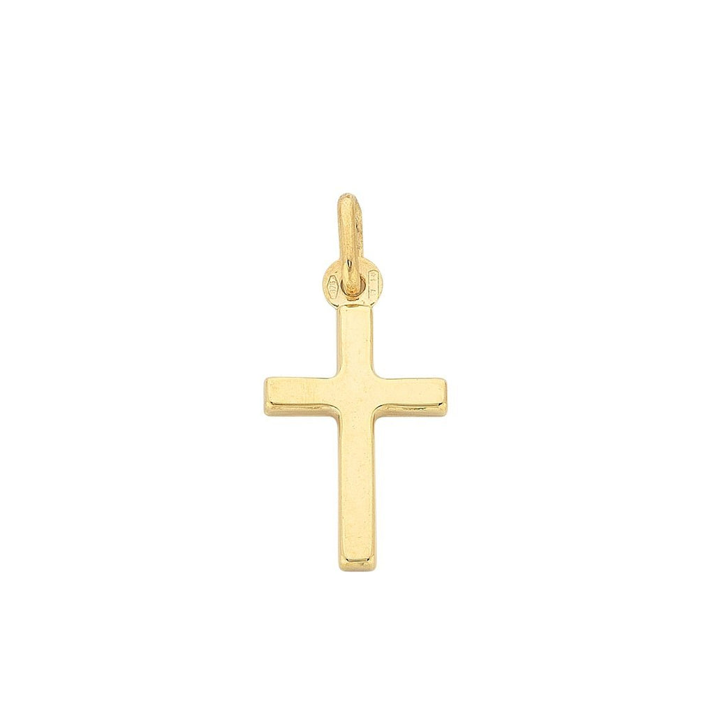 9ct Yellow Gold Plain Cross Pendant Necklaces Bevilles