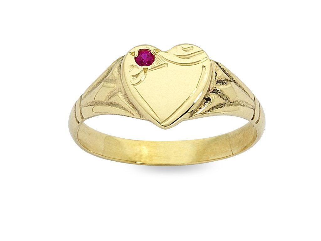 Children's Personalised 9ct Yellow Gold Signet Ring