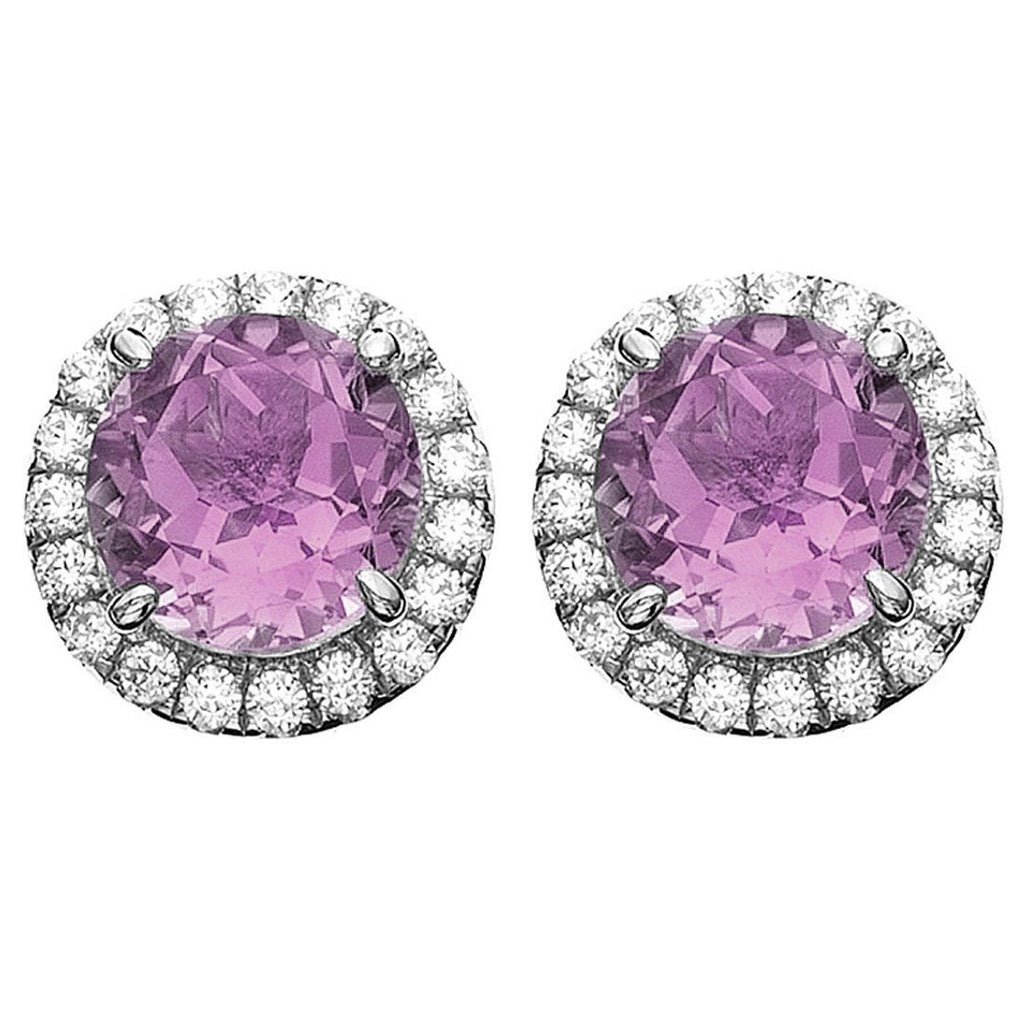 Rebecca Sloane Sterling Silver Amethyst Stud Earrings Default Bevilles