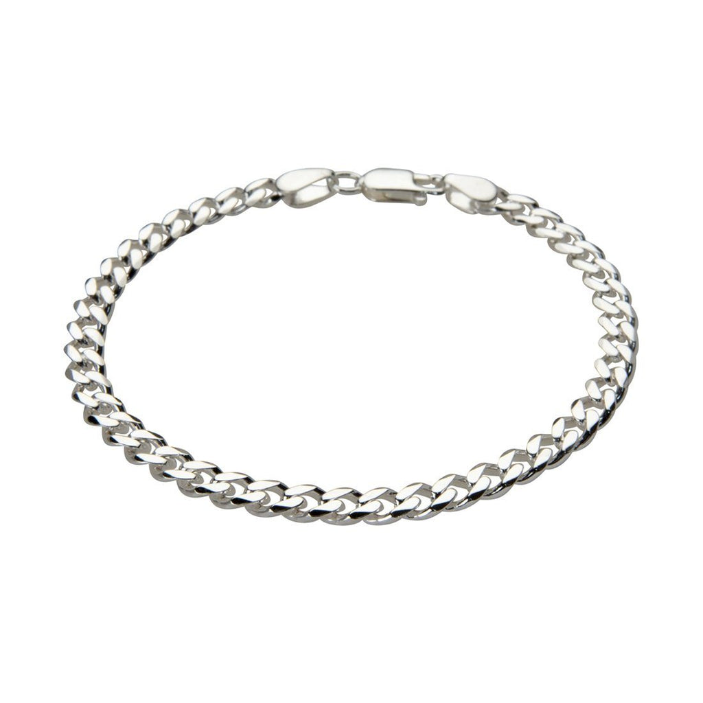 Sterling Silver 21cm Men's Curb Bracelet