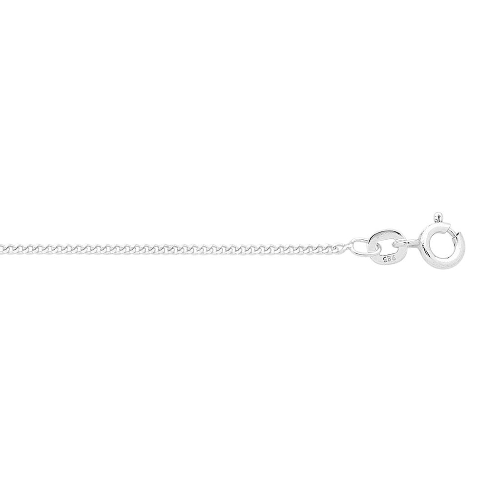 Sterling Silver 45cm Curb Necklace Necklaces Bevilles