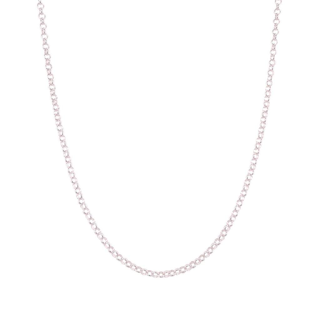 Sterling Silver 45cm Belcher Necklace Necklaces Bevilles
